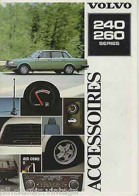 VOLVO - 240/260 Accesoires brochure/prospekt/folder Dutch 1980?