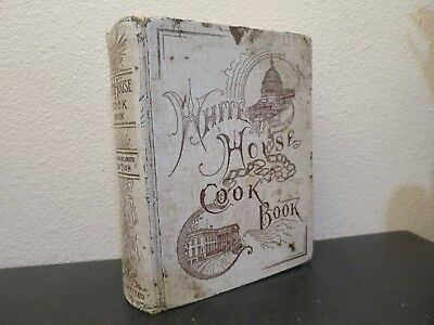 Vintage 1900 The White House Cook Book - Special Edition Colored Plates & Illus
