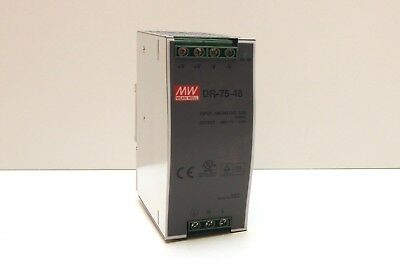 NEW DR-75-48 Mean Well 75 W, SINGLE OUTPUT, 48 V@1.6 A INDUSTRIAL PSU AC-DC