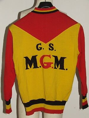 aff4739ff Shirt Bike Jacket Shirt Cycling Eroica Vintage 70 s Mgm 50% Wool Embroidered