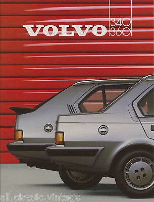 VOLVO - 340 360 brochure/prospekt/folder Dutch 1986