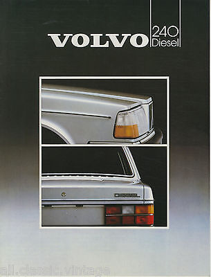VOLVO - 240 Diesel leaflet brochure/prospekt/folder Dutch 1983