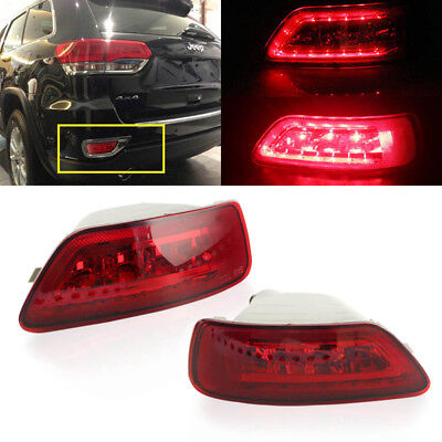 Set 2pc Led Rear Fog Light For 2011 2015 Jeep Wk2 Compass