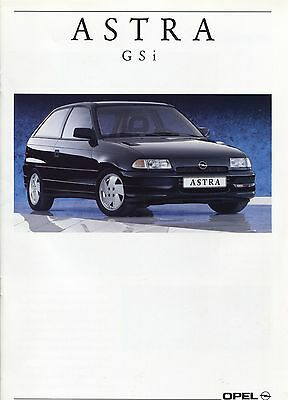 Opel - Astra GSI brochure/prospekt/folder Dutch 1991