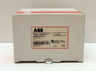 ABB GAE75-10  Contactor with (1) ABB CAL5-11 & (1) CDL5-01 Auxiliary Contacts