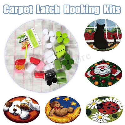 Cushion Latch Hook Rug Embroidery Kit For DIY Carpet Making Home Decor 50 x 50cm