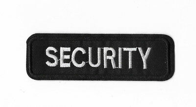 SECURITY BADGE Iron on Patch Embroidered Costume Sew Cosplay Fancy Dress PT386