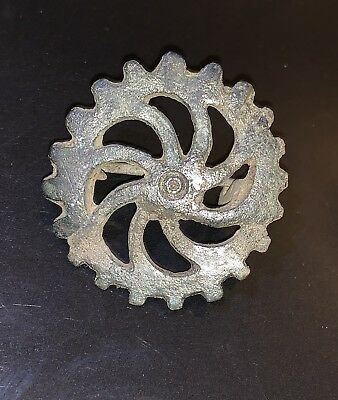 Circa 300-400Ad Roman Era Imperial Bronze Brooch Authentic Artefact