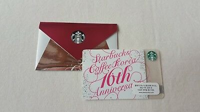 **Starbucks korea 16th ANNIVERSARY  Card with sleeve(pin covered)