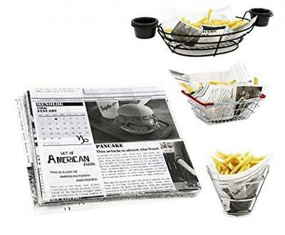 Mannily Food Grade Carta velina Basket Liners – Deli/BBQ Sandwich Wrapping...
