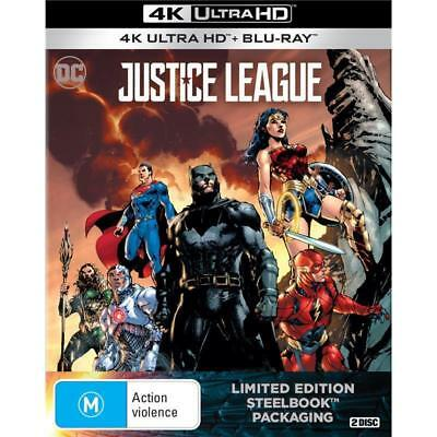 Justice League Limited Edition SteelBook 4K UHD + Blu-ray BRAND NEW 2-DISC