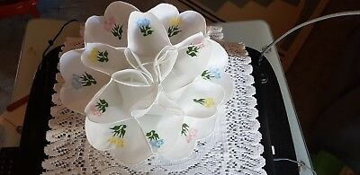 Collectable Fabric Hand Made Embroidered Cupcake Holder