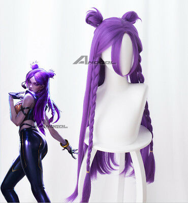Game LOL League of Legends KDA Team Kaisa Cosplay Wig Purple Braid Wigs Costume