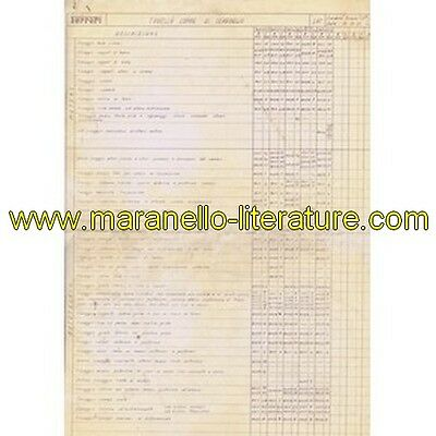 1971 Ferrari technical information n°0185 365/Dino 206/246 (Tabella coppie di se