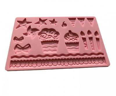 SWEET CANDY BAKERY Stampo in Silicone 3D per Torte, Compleanno, Happy...