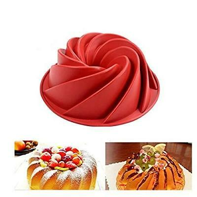 SWEET CANDY BAKERY Stampo per Dolci a Spirale, in Silicone, da Forno