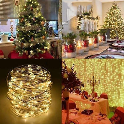 10M USB LED Flexible Copper Wire String Xmas Lights Party Bright 100-Leds Decor
