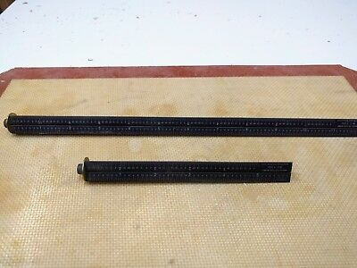 Bridge City Tool Works No Glare Triangular Bench Hook Rulers BR-12 and BR-6 Used