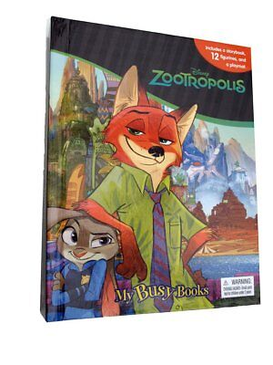 Zootropolis My Busy Books With 12 Figurines And Play Mat Age 3+ Years