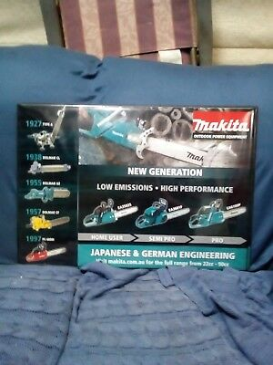 Makita/Dolmar counter mat collector vintage chainsaws man cave shed