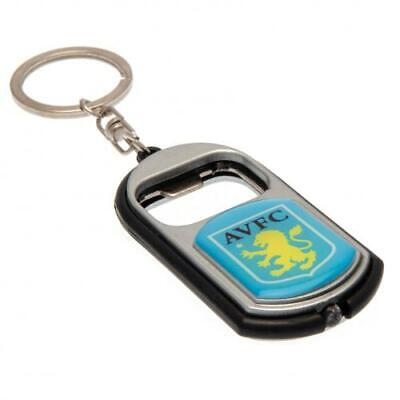 Aston Villa Fc Bottle Opener Keyrings With Torch Key Ring Xmas Gift New