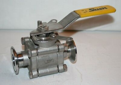 "1"" Sanitary CF3M SS Ball Valve Sharppe"