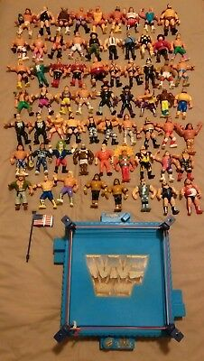 WWF WWE Old School Hasbro Retro Classic Wrestling Action Figures Toys Lot & Ring
