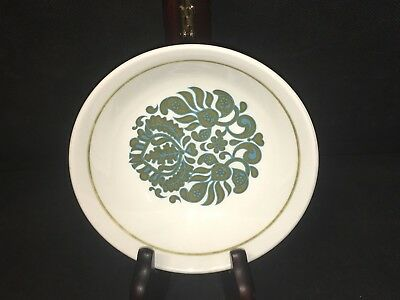 """Ridgway MARTINIQUE Small 5 1/4"""" FRUIT BERRY BOWL Green & Turquoise Exc Condition"""