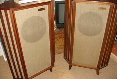 Tannoy 15 Silver Monitors In Corner Cabinets Early 1950's