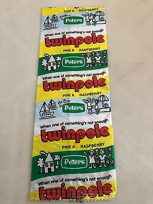 Retro Peters Icecream Twinpole Pine & Raspberry Bag Packet Wrapper Perth Product