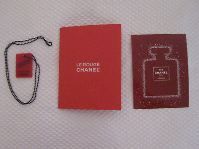 Le Rouge Chanel NYC Pop-Up Boutique Memorabilia-Necklace, Program, Postcard, New