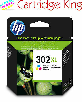 Genuine HP 302XL Colour ink cartridge for Officejet 4658 All-in-One Printer - F6