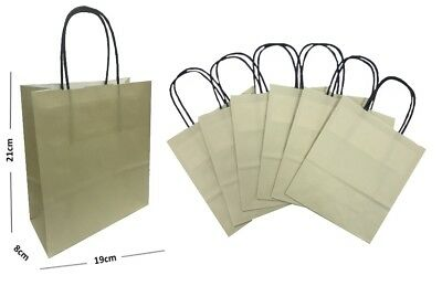 Pastel Vanilla Cream Paper Gift Bags BB Carrier / Party Loot Favour Bag