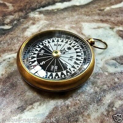 Antique Nautical Brass Floating Compass Beautiful Collectible Item
