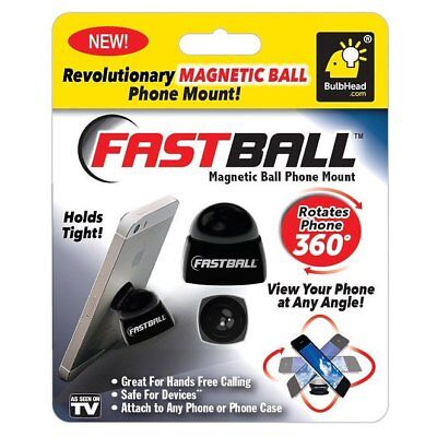 Fast Ball 13343-6 As Seen On TV Magnetic Ball Phone Mount, Black