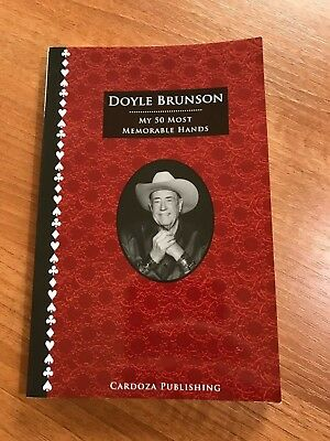 Signed by Doyle Brunson - My 50 Most memorable Hands by Doyle Brunson Poker Book