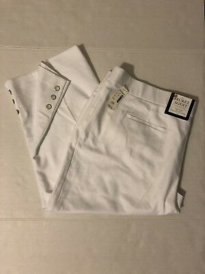 ROZ & ALI WOMAN Size 20 White Dress Cropped Pant Capri Stretch Cotton Blend