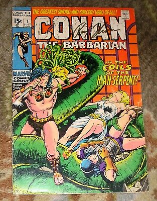 "Vintage 1971 (1st Series) MARVEL COMICS ""Conan The Barbarian"" #7  BARRY SMITH"