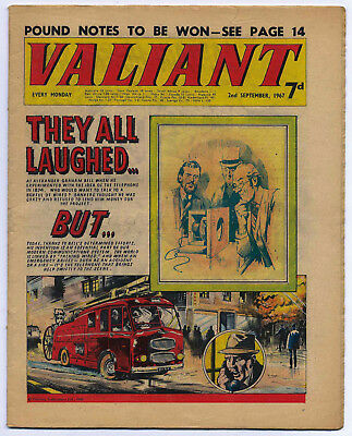 Valiant 2nd Sept 1967 (very high grade) Steel Claw, Sexton Blake, Kelly's Eye