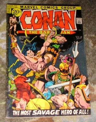 "Vintage 1971 (1st Series) MARVEL COMICS ""Conan The Barbarian"" #12  BARRY SMITH"