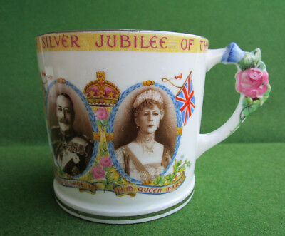 Rare Paragon China King George V & Queen Mary Silver Jubilee  Mug c.1935