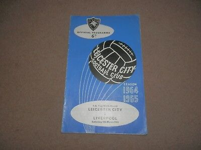 Leicester vs. Liverpool FC FA Cup 6th Round 1965