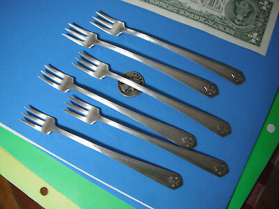 Cocktail Forks Flatware Silverplated  Southwest chevron set 6 Wm A Rogers ONEIDA