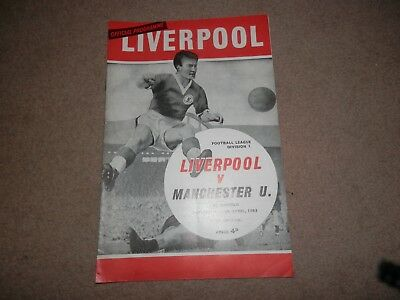 Liverpool FC vs. Manchester United Anfield programme 13 April 1963