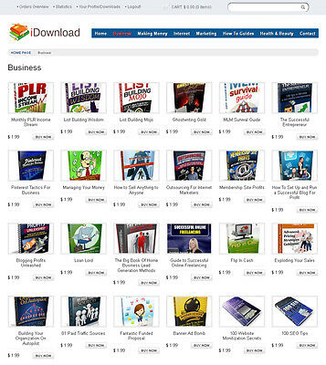 eBooks, Digital Products Store Website For Sale - 180+ items included