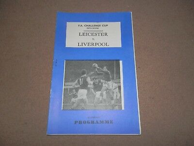 Leicester vs. Liverpool FC programme 1 March 1969