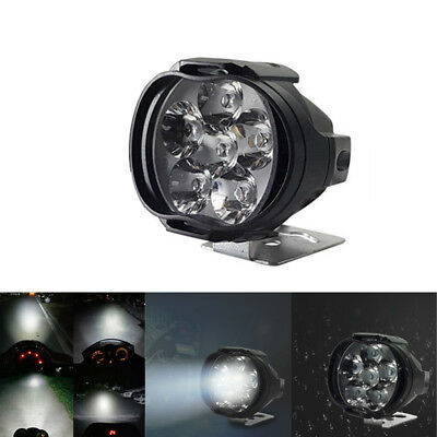 12V Motorcycle Front Head Fog Spot Light Headlight LED DRL Lamp White 6000K 10W