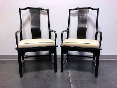 CENTURY Chin Hua Raymond Sobota Asian Chinoiserie Dining Captain's Arm Chairs
