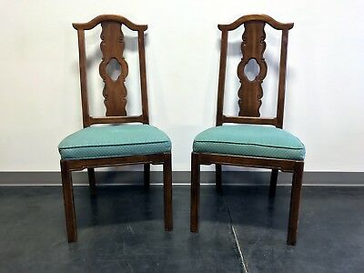 THOMASVILLE Mystique Asian Chinoiserie Dining Side Chairs - Pair 2