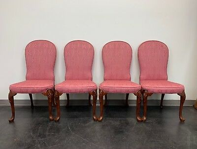 JOHN WIDDICOMB Queen Anne Style Dining Parsons Side Chairs - Set of 4